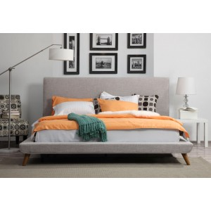 Nixon Beige Linen King Bed