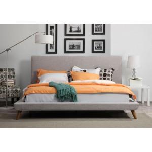Nixon Beige Linen King Bed