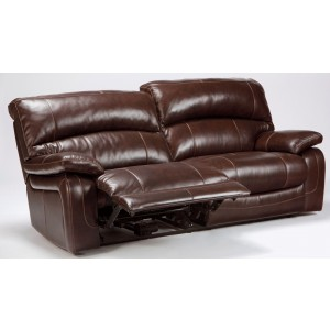 Damacio Dark Brown 2 Seat Power Reclining Sofa