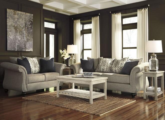 FurnitureETC Furniture More Veldar Whitewash Occasional Table - Ashley veldar coffee table