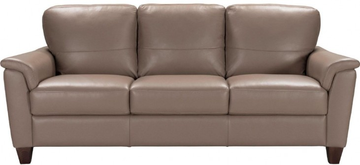 Belfast Taupe Leather Sofa