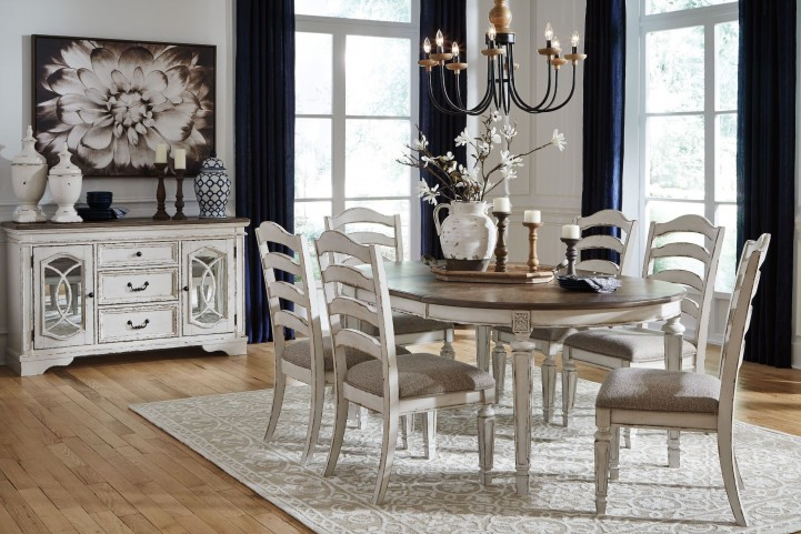 FurnitureETC | Furniture & More Realyn White Oval Extendable Dining ...