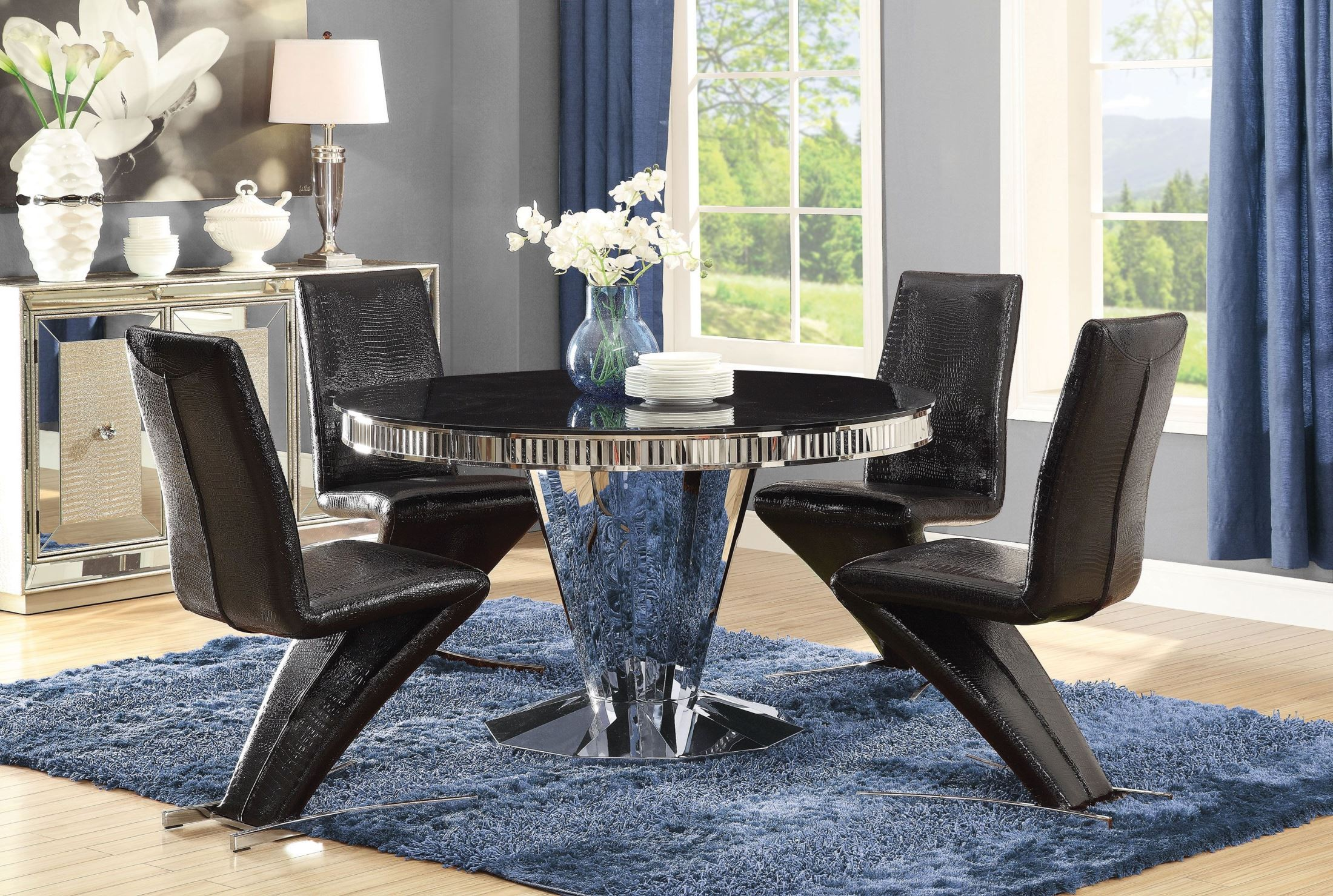 FurnitureETC   Furniture & More Barzini Stainless Steel Dining Room ...
