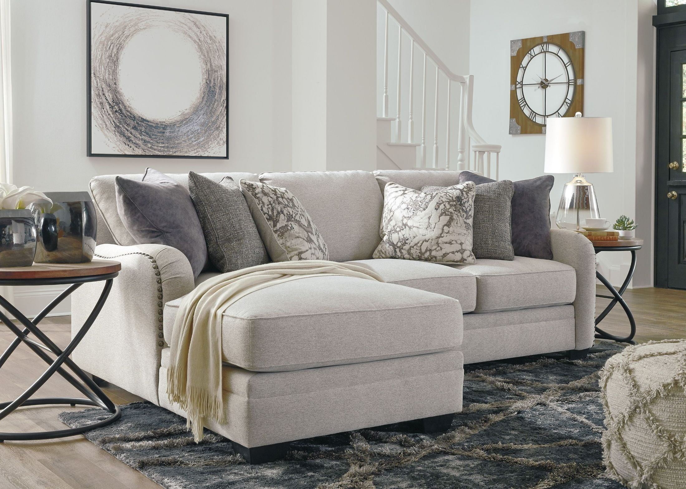 FurnitureETC | Furniture & More Dellara Chalk LAF Small ...