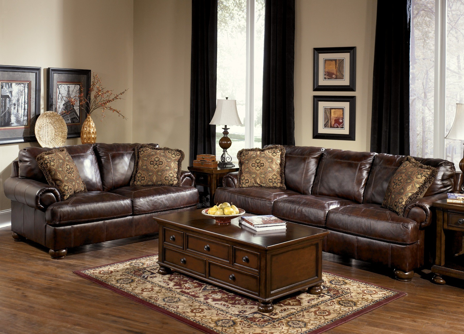 Furnitureetc Furniture More Axiom Walnut Living Room Set From Ashley Furniture Furniture