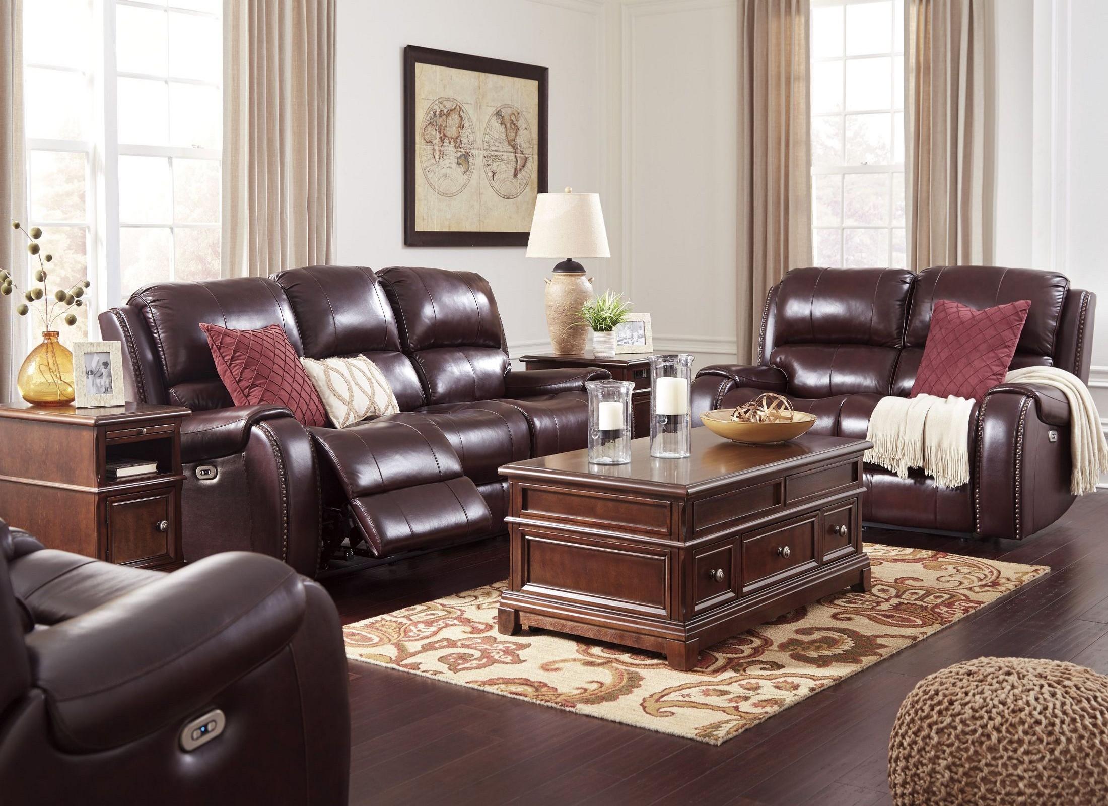 FurnitureETC   Furniture & More Gilmanton Burgundy Power ...