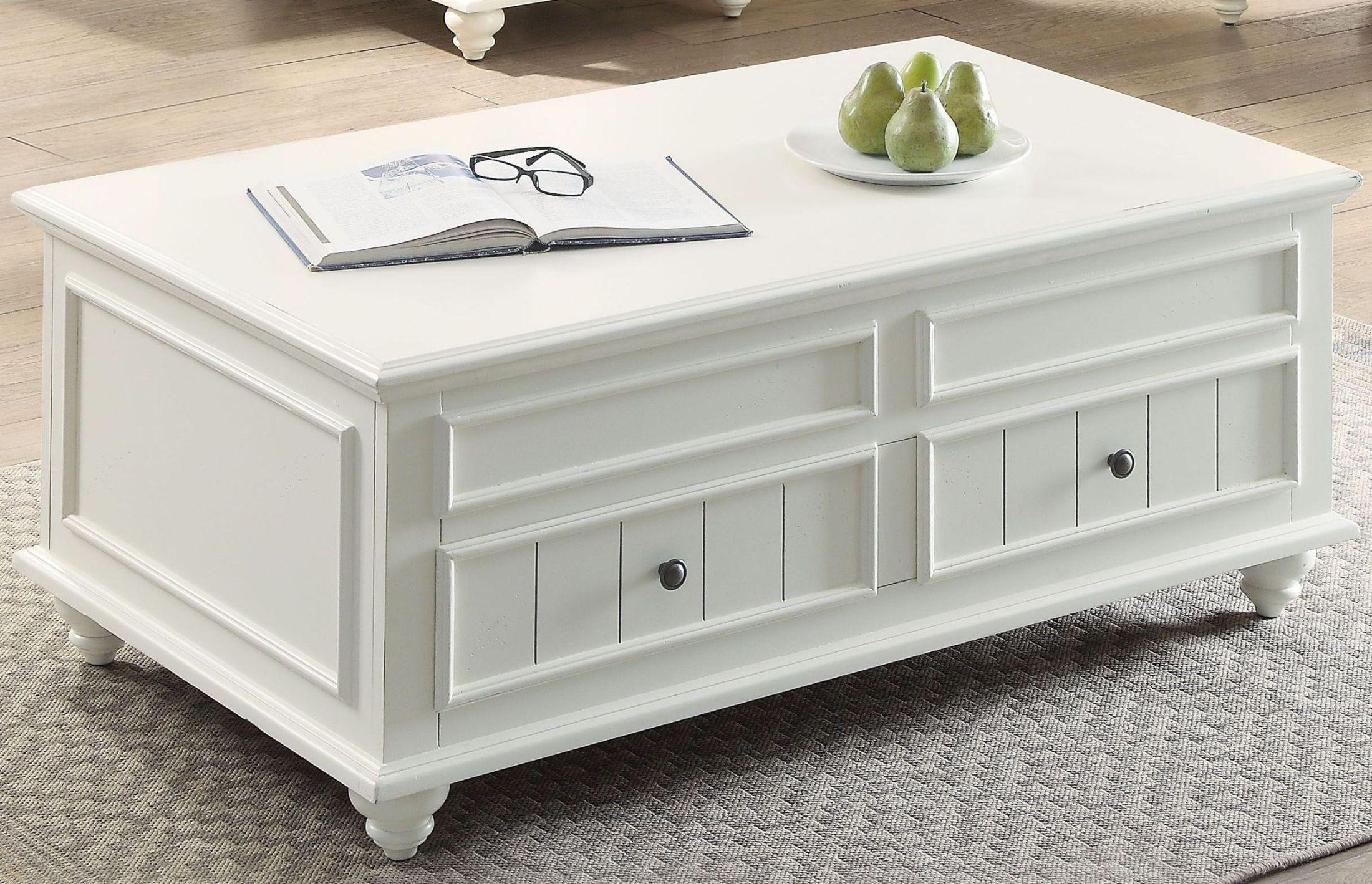 Furnitureetc Furniture More Natesa Lift Top White Washed Coffee