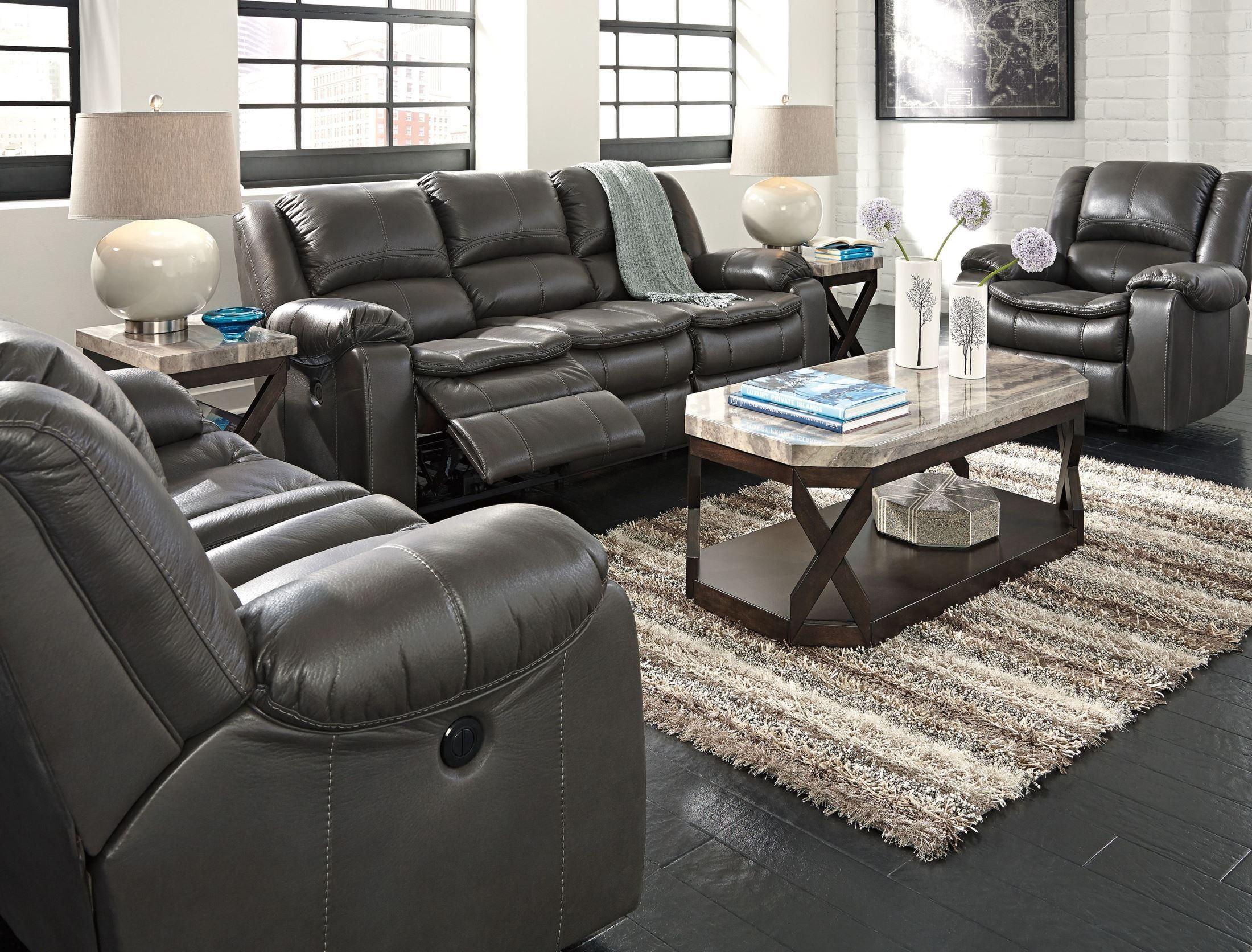 Long Knight Gray Reclining Living Room Set from Ashley ...