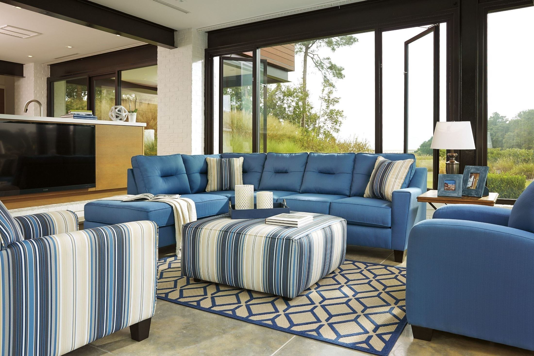 Tremendous Furnitureetc Furniture More Kirwin Nuvella Blue Laf Home Interior And Landscaping Palasignezvosmurscom