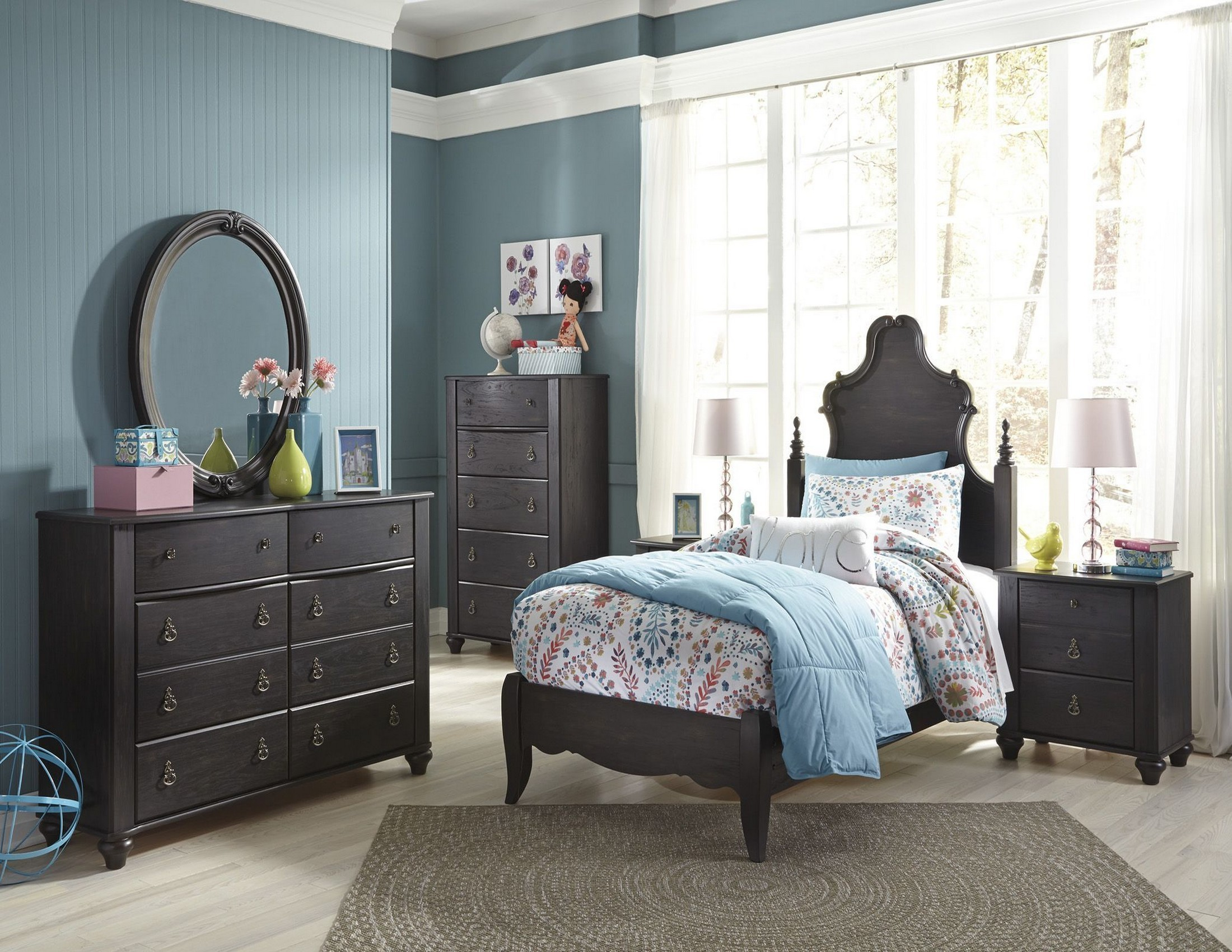 Corilyn Dark Brown Youth Poster Bedroom Set from Ashley ...