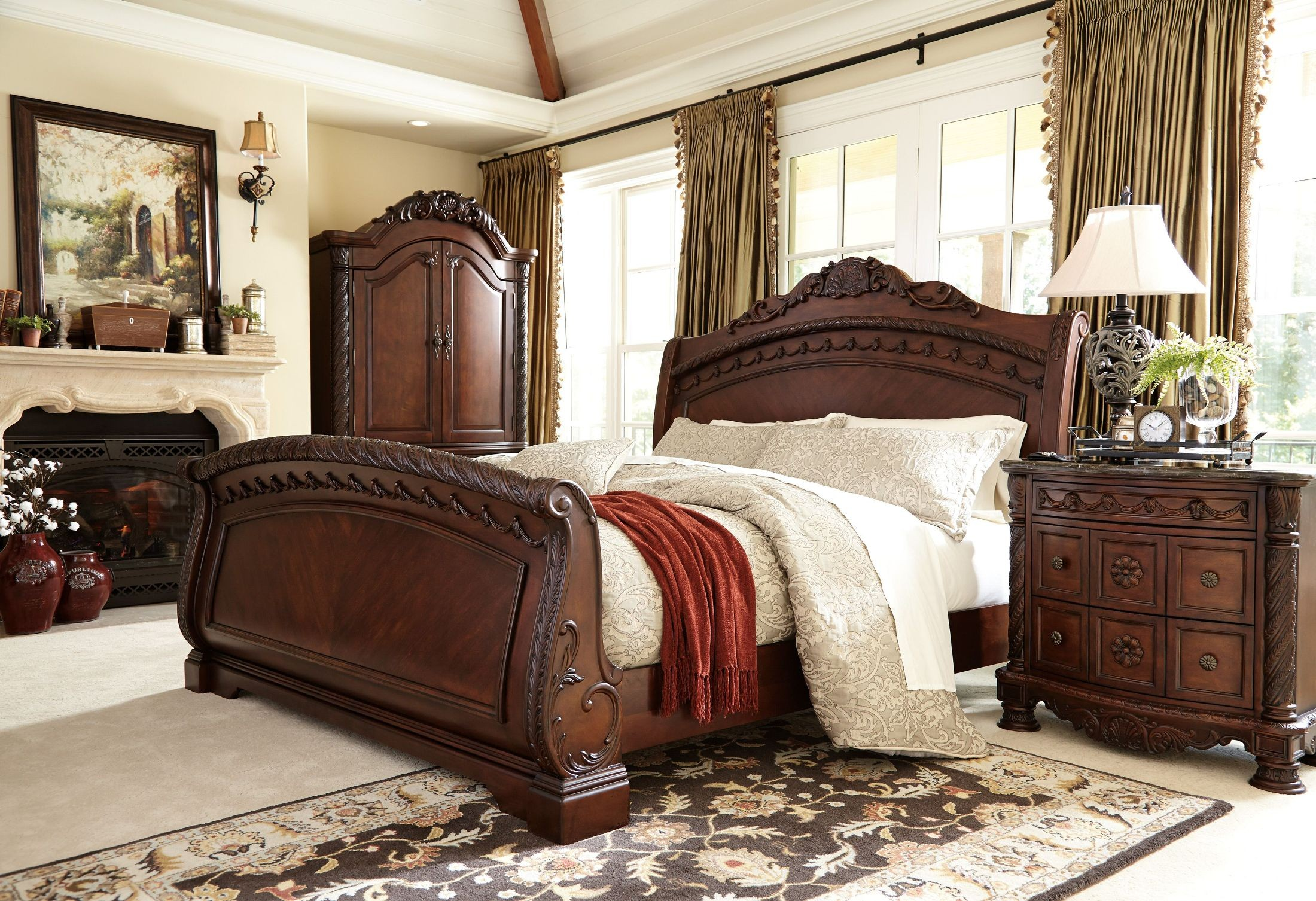 FurnitureETC Furniture More North Shore Sleigh Bedroom Set From - Ashley furniture northshore bedroom set