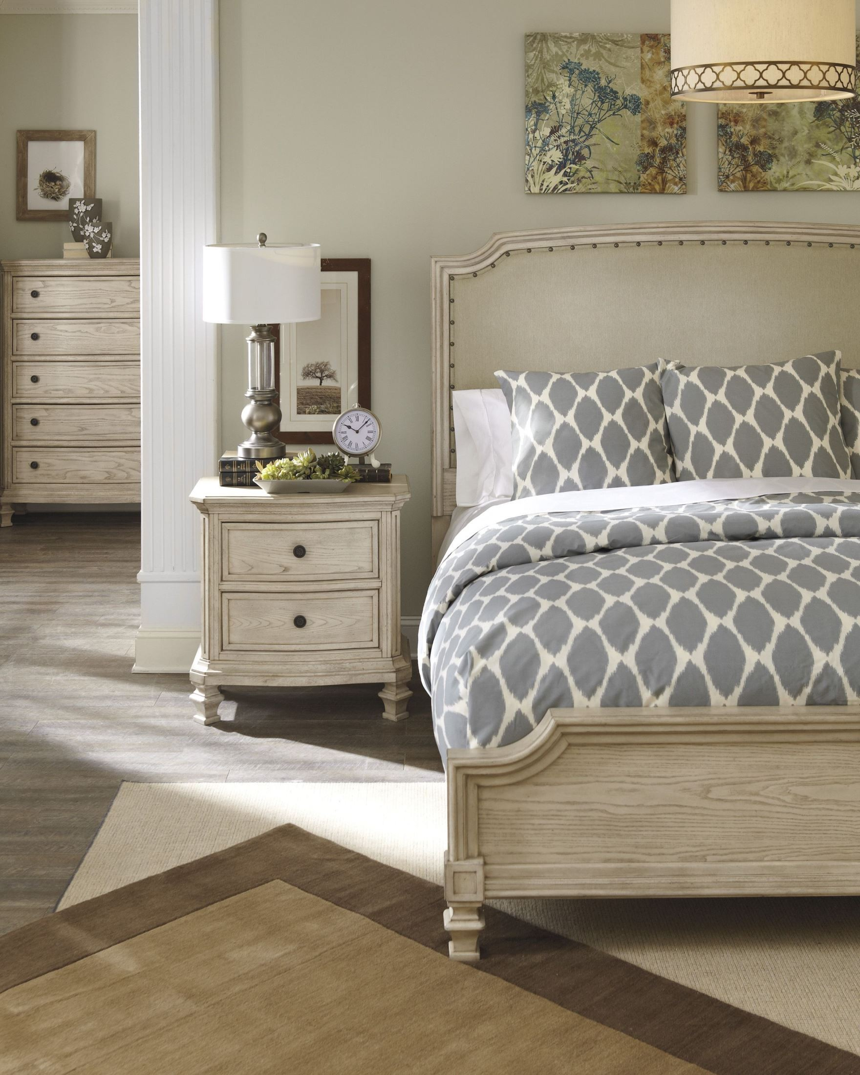 B657 77 Ashley Furniture Queen Upholstered Bed: Furniture & More Demarlos Queen Upholstered