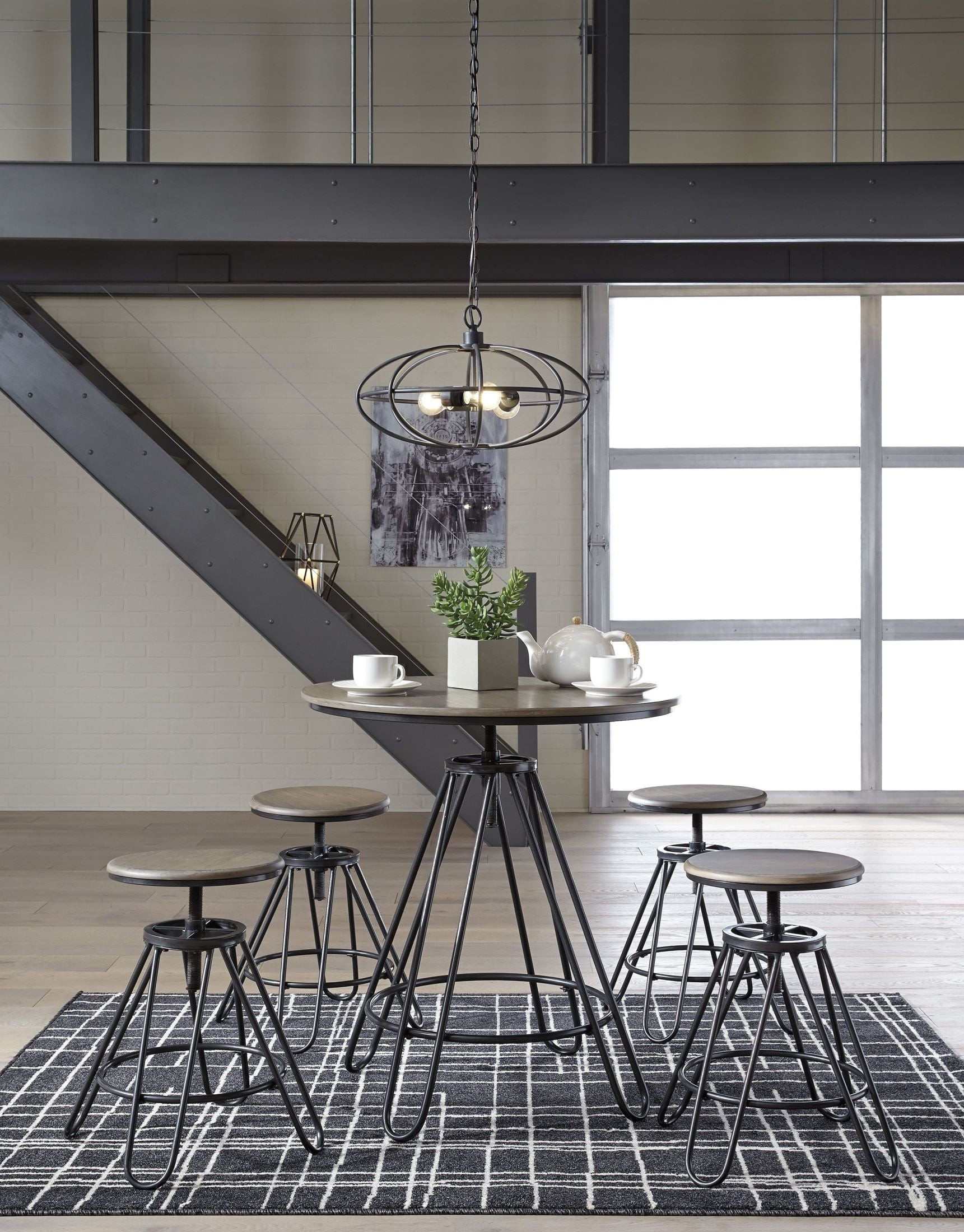 Black Counter Height Dining Set