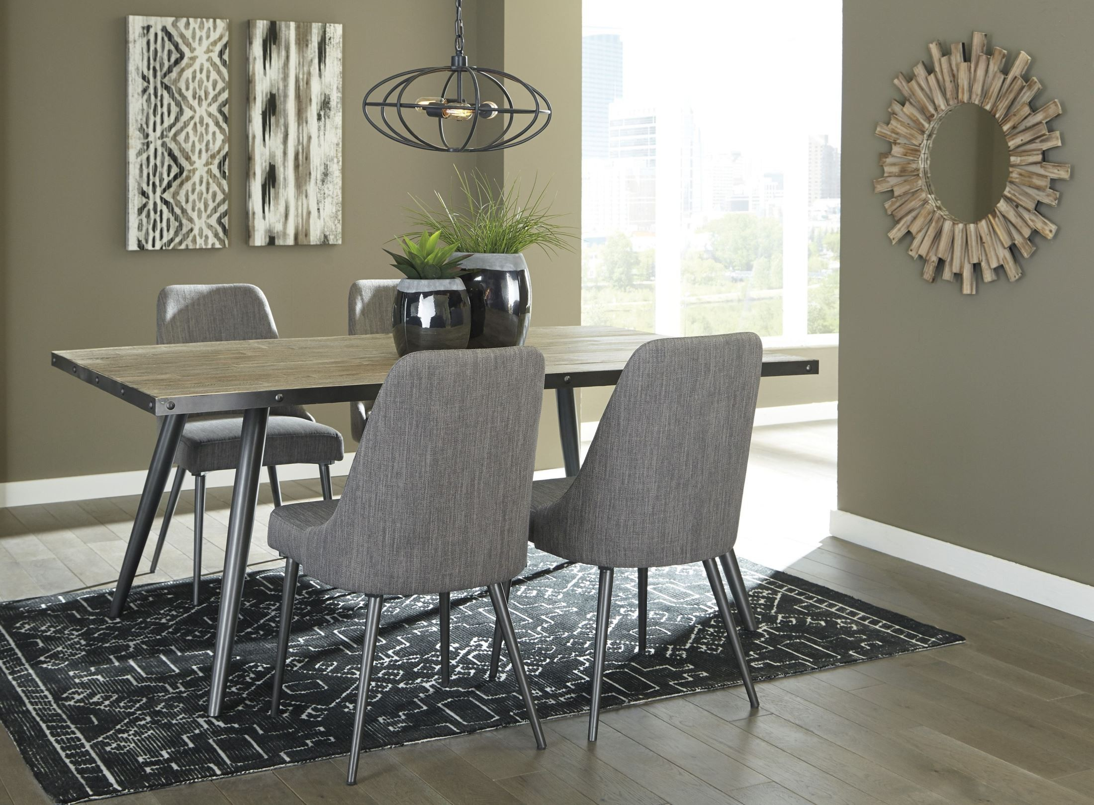 Samcott Rectangular Dining Room Table Brown Signature