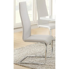 Mix & Match White Dining Chair 100515WHT Set of 4