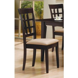 Mix & Match Cappuccino Wheat Back Chair Set of 2