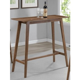 Natural Walnut Rectangular Bar Table