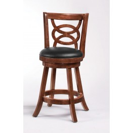 "Cappuccino 24""H Swivel Bar Stool 101929 Set of 2"