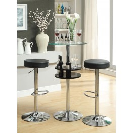 Black Bar Table Set 120715