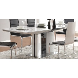 Broderick Modern White Extendable Dining Table