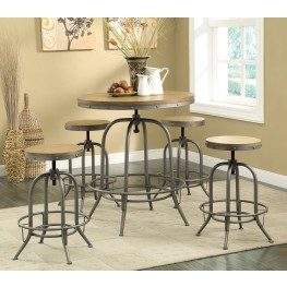 Modern Antique Black Adjustable Bar Set
