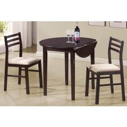 3 Piece Round Dining Table Set 130005
