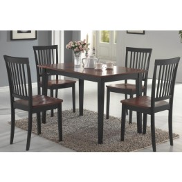Oakdale Tobacco and Black 5 Piece Dining Room Set
