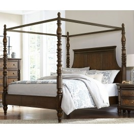 Verlyn Cherry Queen Canopy Bed