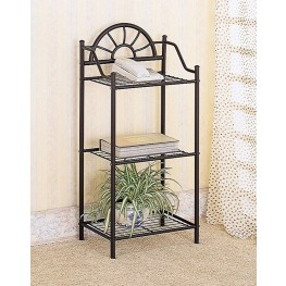 Black Sunburst Metal Accent Table
