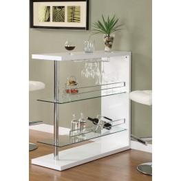 White Bar Table 100167
