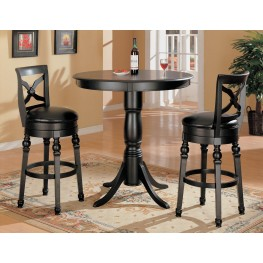 Black Counter Height Pub Set- 100278