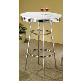 Soda Fountain Table With White Top