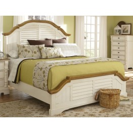 Oleta Buttermilk and Brown King Panel Bed
