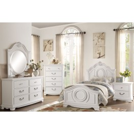 Lucida White Youth Bedroom Set