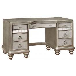 Bling Game Metallic Platinum Vanity Desk