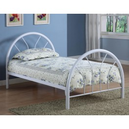 Rack em up White Twin Metal Bed