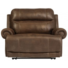 Austere Brown Zero Wall Wide Seat Power Recliner
