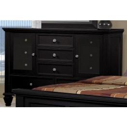 Sandy Beach Black Dresser - 201323