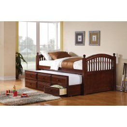 Captains Twin Poster Bed with Trundle