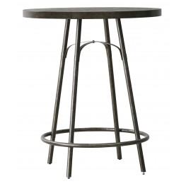 Vintage Tempo Unique Charcoal Round Metal Pub Table
