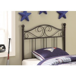 Brown Twin Size Headboard 450103T