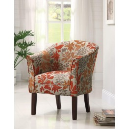 460407 Red Accent Chair