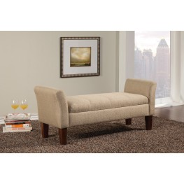 500076 Tan Upholstery Bench