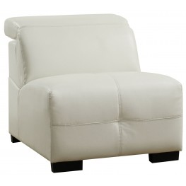 Darby White Armless Chair
