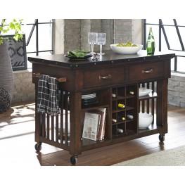 Schleiger Brown Kitchen Cart