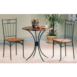 Black Bistro 3 Piece Round Dining Table Set 5939