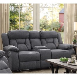 Houston Stone Reclining Loveseat With Console
