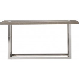 Modern Wyatt Chrome Console Table