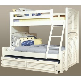 Cottage Traditions White Bunk Bedroom Set