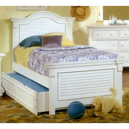 Cottage Traditions White Twin Panel Bed